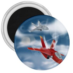 America Jet Fighter Air Force 3  Button Magnet