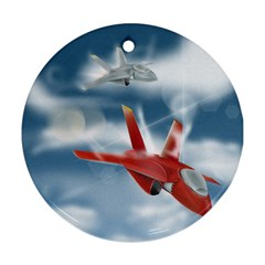 America Jet fighter Air Force Round Ornament