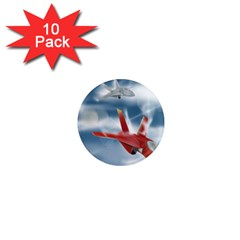 America Jet fighter Air Force 1  Mini Button Magnet (10 pack)
