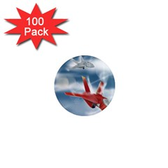 America Jet Fighter Air Force 1  Mini Button Magnet (100 Pack)