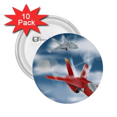 America Jet fighter Air Force 2.25  Button (10 pack)