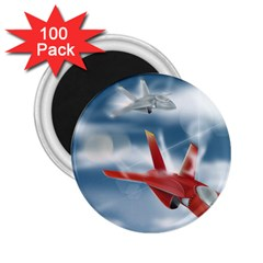 America Jet Fighter Air Force 2 25  Button Magnet (100 Pack)
