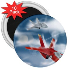 America Jet fighter Air Force 3  Button Magnet (10 pack)