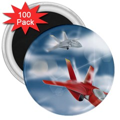 America Jet fighter Air Force 3  Button Magnet (100 pack)