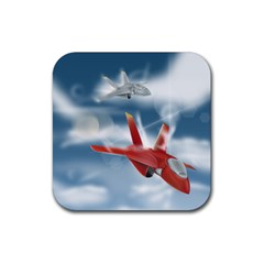 America Jet fighter Air Force Drink Coasters 4 Pack (Square)