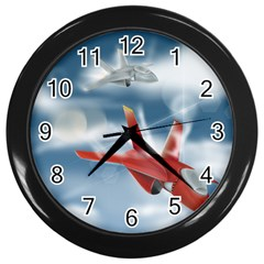 America Jet fighter Air Force Wall Clock (Black)