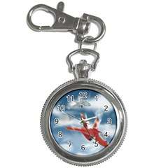 America Jet fighter Air Force Key Chain Watch