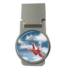 America Jet fighter Air Force Money Clip (Round)