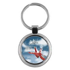 America Jet fighter Air Force Key Chain (Round)
