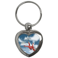 America Jet fighter Air Force Key Chain (Heart)