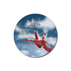 America Jet fighter Air Force Drink Coasters 4 Pack (Round)