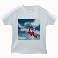 America Jet fighter Air Force Kids T-shirt (White)