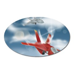 America Jet fighter Air Force Magnet (Oval)