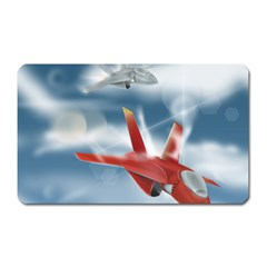 America Jet fighter Air Force Magnet (Rectangular)