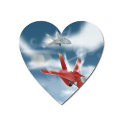 America Jet Fighter Air Force Magnet (heart)