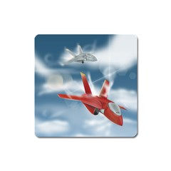 America Jet Fighter Air Force Magnet (square)