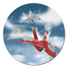 America Jet fighter Air Force Magnet 5  (Round)