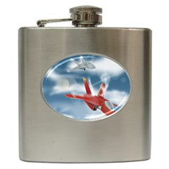 America Jet Fighter Air Force Hip Flask