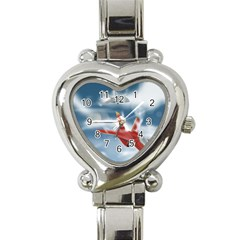 America Jet fighter Air Force Heart Italian Charm Watch