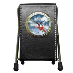 America Jet fighter Air Force Stationery Holder Clock