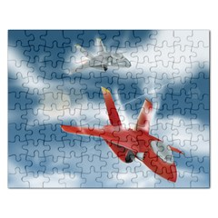 America Jet Fighter Air Force Jigsaw Puzzle (rectangle)