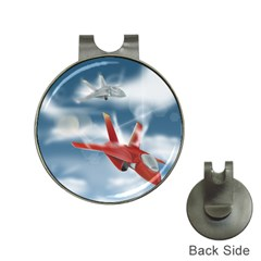America Jet fighter Air Force Hat Clip with Golf Ball Marker