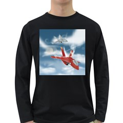 America Jet fighter Air Force Men s Long Sleeve T-shirt (Dark Colored)