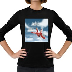 America Jet fighter Air Force Women s Long Sleeve T-shirt (Dark Colored)