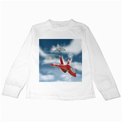 America Jet fighter Air Force Kids Long Sleeve T-Shirt