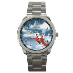 America Jet fighter Air Force Sport Metal Watch