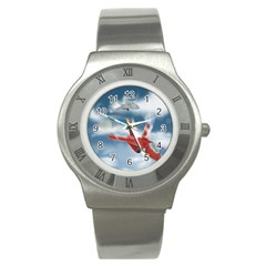 America Jet fighter Air Force Stainless Steel Watch (Slim)