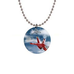America Jet fighter Air Force Button Necklace