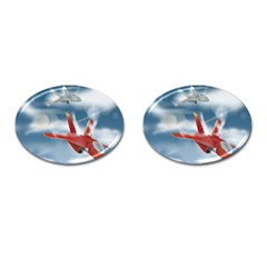 America Jet fighter Air Force Cufflinks (Oval)