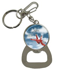America Jet Fighter Air Force Bottle Opener Key Chain