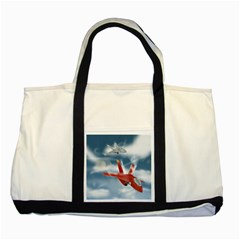 America Jet fighter Air Force Two Toned Tote Bag