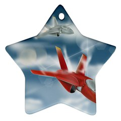America Jet Fighter Air Force Star Ornament (two Sides)