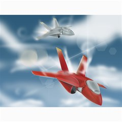 America Jet Fighter Air Force Canvas 18  X 24  (unframed)