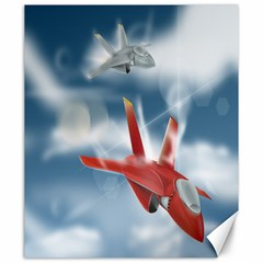 America Jet fighter Air Force Canvas 20  x 24  (Unframed)