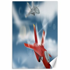 America Jet fighter Air Force Canvas 24  x 36  (Unframed)