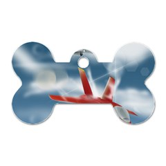 America Jet fighter Air Force Dog Tag Bone (One Sided)