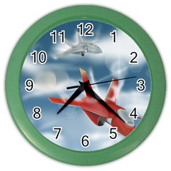 America Jet fighter Air Force Wall Clock (Color)