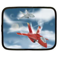 America Jet Fighter Air Force Netbook Sleeve (large)