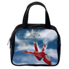 America Jet fighter Air Force Classic Handbag (One Side)
