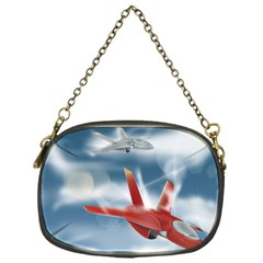 America Jet Fighter Air Force Chain Purse (one Side)