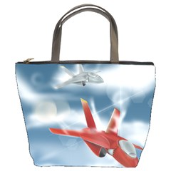 America Jet fighter Air Force Bucket Handbag