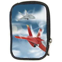 America Jet fighter Air Force Compact Camera Leather Case