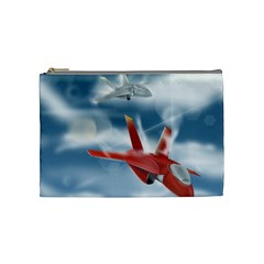 America Jet fighter Air Force Cosmetic Bag (Medium)