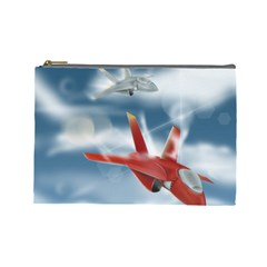 America Jet fighter Air Force Cosmetic Bag (Large)