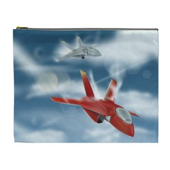 America Jet fighter Air Force Cosmetic Bag (XL)