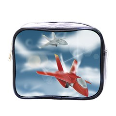 America Jet fighter Air Force Mini Travel Toiletry Bag (One Side)